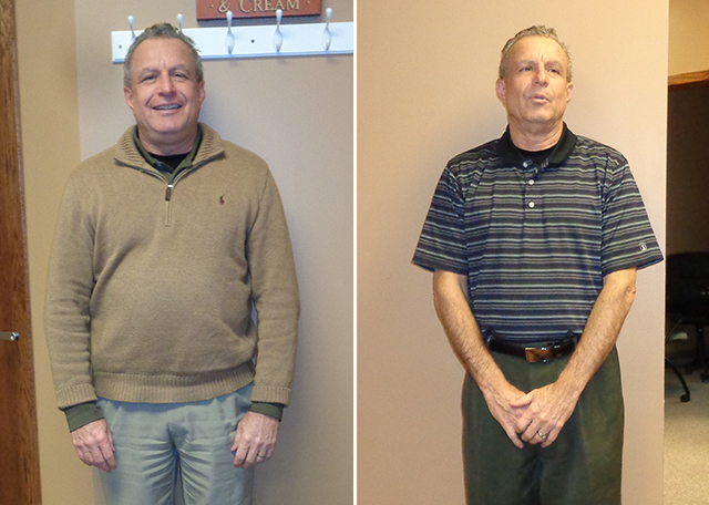 weight loss testimonial before and after Ideal You Health Center